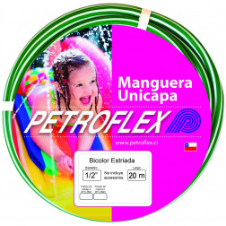MANGUERA J. 1/2 BLANCO/VERDE SIN ACC (ROLLO 20MTS) PETROFLEX