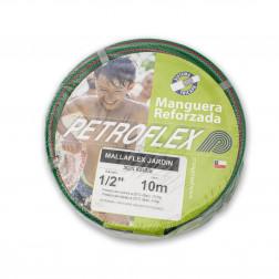 Manguera J. 1/2'' Mallaflex Verde Con Acc. (rollo 10mt) Petroflex