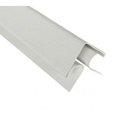 Esquinero Exterior 2.5mt 50mm Gris Siding Fibrocem.