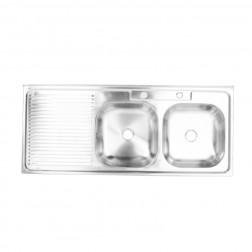 Lavaplato 1.20*0.50 2c S/izq P/comb Mixa