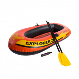 BOTE INFLABLE 185X94X41 CM INF+REMOS+BOMBIN INTEX