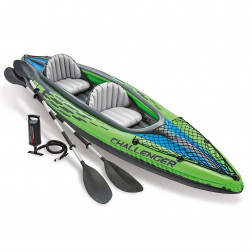 KAYAK INFLABLE CHALLENGER 2 PERS+REMOS+INFL INTEX
