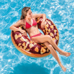 INFLABLE 114CM DONUT CHOCOLATE NEGRO INTEX