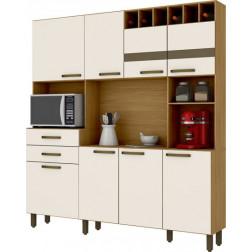 Mueble Cocina Compacta 8ptas+2cj Henn