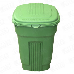 BASURERO 130LT VERDE BIGHOUSE