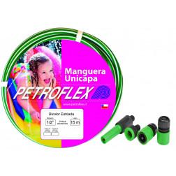 MANGUERA J. 1/2 BLANCO/VERDE CON ACC (ROLLO 15MTS) PETROFLEX