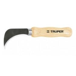 Cuchillo Cortar Linoleo 17cm Curvo Truper