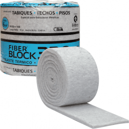 AISLANTE FIBER BLOCK 55MM 0.60X10MTS GRIS /FELTREX